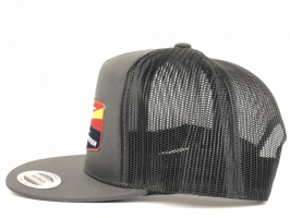 Charcoal and Black Trucker
