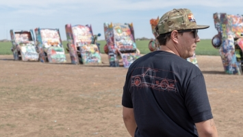 67-68 Cad shirt Cadillac Ranch Texas