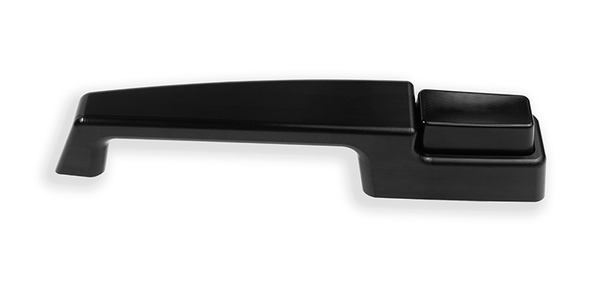 67 72 Billet Door Handles, Smooth Detail, Black Finish