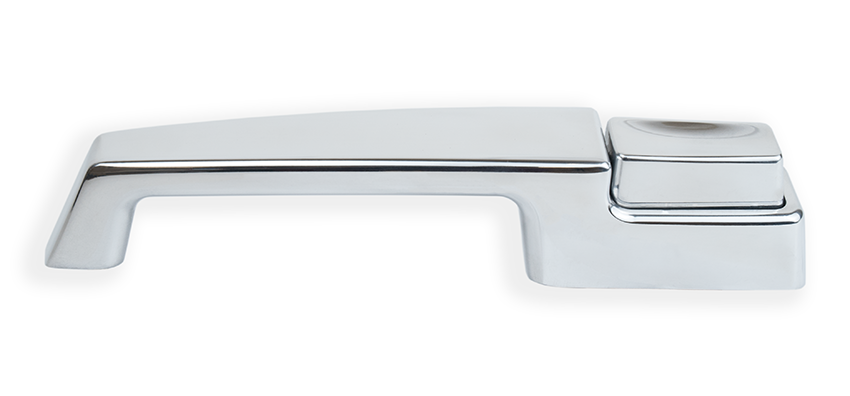 67-72 Billet Door Handles, Polished Finish, Smooth Detail
