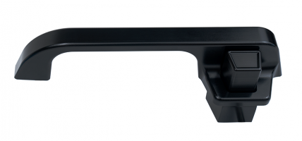73-87 Billet Door Handles, Smooth Detail, (BLACK)