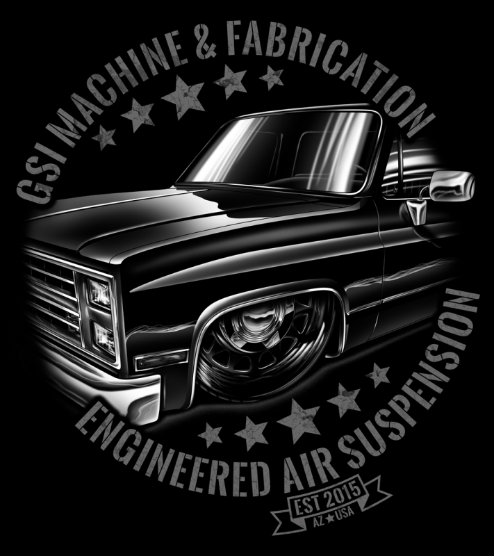 Bagged Truck T-Shirt   New '73-87 Square Body Truck T ...