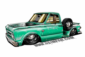 C10 STEPSIDE Patina Decal