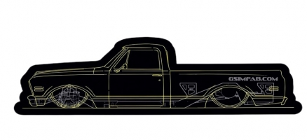 6768 CAD Truck Sticker Yellow