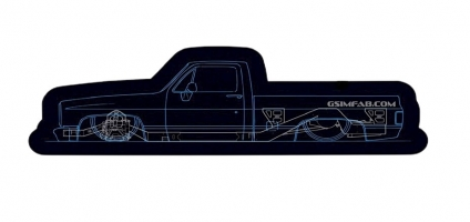 7381 CAD Truck Sticker Blue